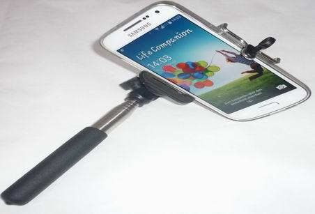 Selfie stick stab teleskop stange ausziehbarer handy smartphone