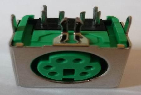 Ps//2 Ps2 Din Socket 2 Port Built-In Connectors Mounting Clutch Solder